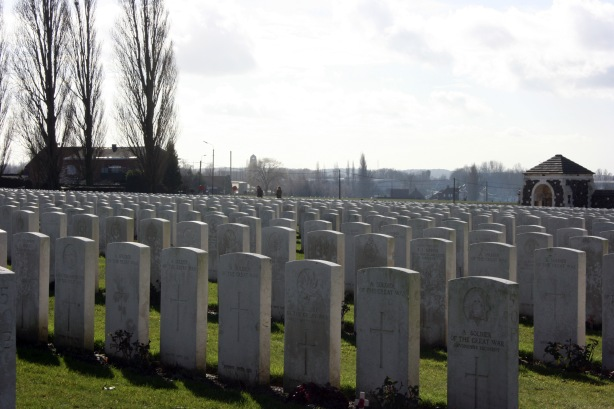 Tyne Cot Cemetery, Ypres. February 2014